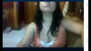 Mexican girl busted by her brother being a slut on Skype