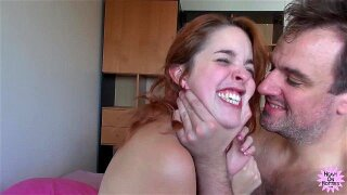 Sexy Redhead Gets Titties Chewed On
