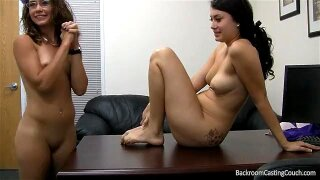 Firsttime threesome casting 2