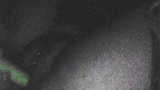 Teen fucks self with dildo on webcam