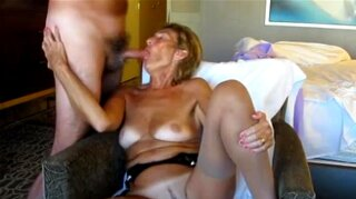 Mature Exhibitionist loves sucking dick and showing off