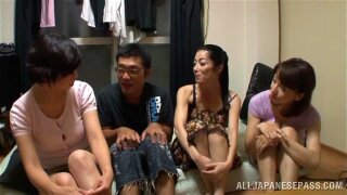 Delicious Miku Sunohara Has Group Sex With Several Horny Friends