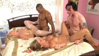 Two married couples fucking in one room and changing partners